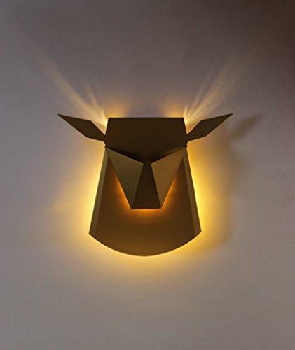 EQLight EQLLWDB1 Light Origami Fauna Deer Wall Lamp, Satin Brass