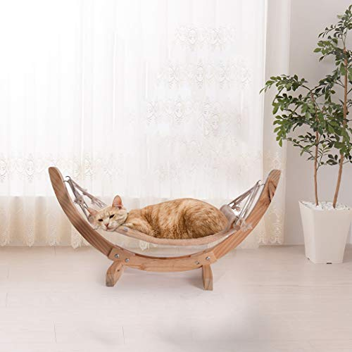 CosyHome-US Pets Luxury Cat Hammock - Large Soft Plush Cat Bed for Indoor Cat Holds Small to Medium Size Cat or Small Dog | Attractive & Sturdy Perch | Easy to Assemble/Cat Toy/28x13.8x13.8inch