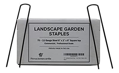 75 Garden Landscape Fabric Anchor Staples Thick 11 Gauge Steel 6 Inch Made In USA By Pinnacle Mercantile