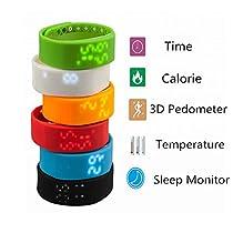 W2 Waterproof Smart Watch Wristband Sleep Monitoring Bracelet Sports Pedometer Strap Color Black