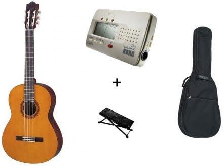 Yamaha C40 - Lote de guitarra clásica, funda, reposapiés y afinador ...