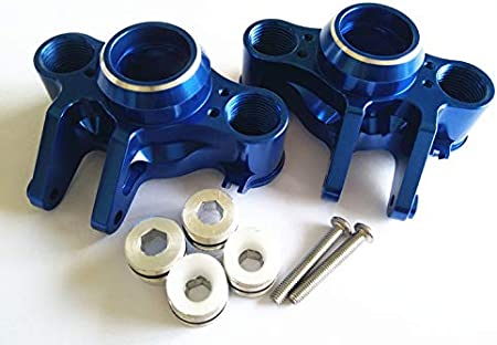2PR Blue for 1//10 RC E-REVO 2.0 VXL 8635 Traxxas Aluminum Axle Carriers Left /& Right Front /& Rear