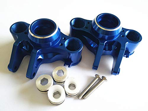 CrazyRacer Aluminum Axle Carriers Left & Right -1PR Blue for 1/10 RC E-REVO 2.0 VXL 8635 Traxxas