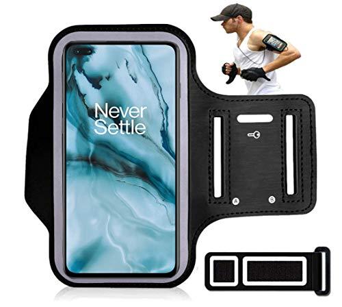 DN-Alive Oneplus Nord Armband Case Muziek Speler Armband Water Zweetvrij Huiswerk, Sport, Wandelen, Fietsen, Lopen, Met…