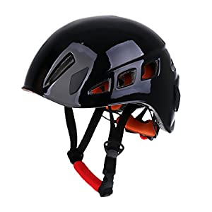 Dovewill Adjustable Lightweight Rock Climbing Caving Rappelling Safety Helmet, Outdoor Rescue/ Abseiling/ Scaffolding/ Construction/ Aerial Work Hard Hat