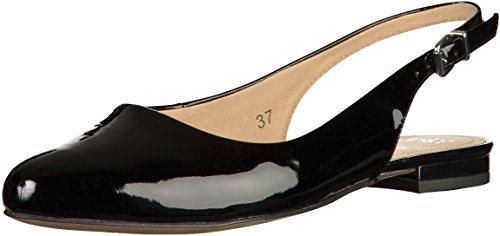 Caprice 29402, Sandalias con Cuña para Mujer Schwarz