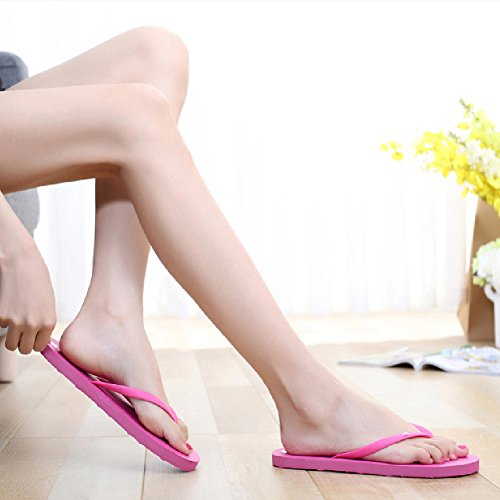 Btrada Womens Flip Flops Sandals Summer Beach Flats Anti-Slip Clip Toe Slides Pink msQGLAYQc