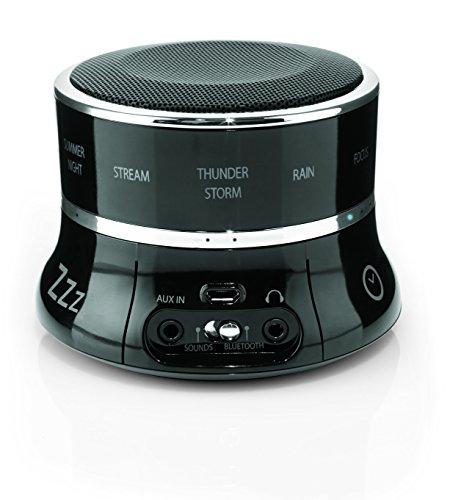 Brookstone Tranquil Moments Bedside Sleep Sound Machine & Bluetooth Speaker, Black, 0.5 Pound