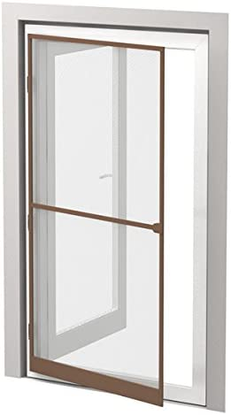 insektenschutz-pro - Mosquitera para puertas (marco de aluminio, 100 x 215 cm, acortable), color marrón: Amazon.es: Jardín
