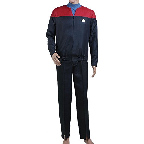 (TISEA Star Fans Men's Women's Voyager Command Uniform Red Cosplay Costume (XXL,)