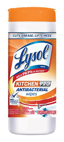 (LYSOL Kitchen Pro Antibacterial Cleaner Wipes 30 ea (4)