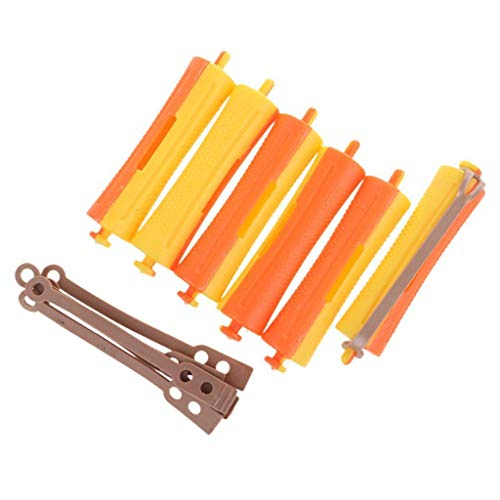 Lot of 6 Salon Cold Wave Rods Rubber Band Hair Roller Curling Curler Perms from Bazzano