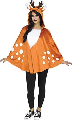 Scary Deer Girl Costumes - Fun World Faun Deer Poncho Halloween,
