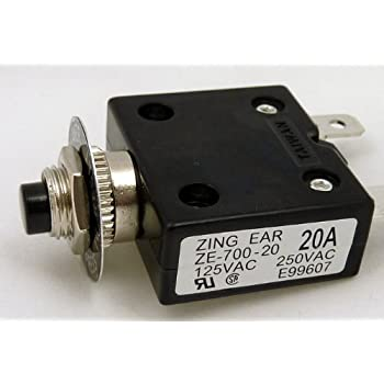 2pcs New ZING EAR 12A Overload Amp Protection Switch 12 Amp ZE-800