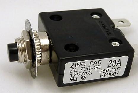 Philmore 30 Amp Push Button Circuit Breaker 32V DC or 250V AC ; B7030