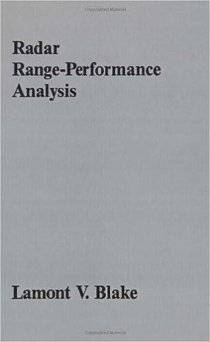 radar range performance analysis artech house radar library