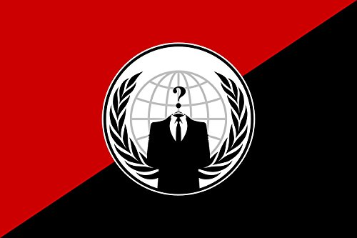 Magflags Table Flag   Desk Flag  Anonymous Anarchist   Alternative Flag For The Anonymous Group   Alternativa Del Grupo Anonymous 15X25cm