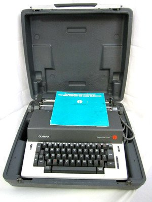 vintage-vtg-olympia-report-de-luxe-electric-portable-typewriter-working