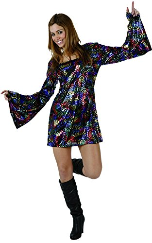 UrAmmi Way 70s Disco Party Dress for Women Outfit Dress (XXL) -