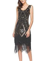 Uniq Sense Women's 1920s Art Deco Gatsby Dresses - Sequin Cocktail Flapper Dresses