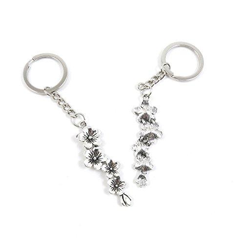 Flower Branch Plum (80 Pieces Keyring Keychain Keytag Key Ring Chain Tag Door Car Wholesale Jewelry Making Charms P4DQ9 Plum Flower Branch)