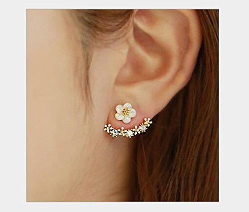 bestwishes2u Little Daisy Flower After Hanging Stud Earrings for Lady Women Girls