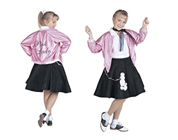 Amazon.com RG Costumes 50u0027s Pink Lady Jacket Child Large/Size 12-14 Toys u0026 Games  sc 1 st  Amazon.com : pink ladies costumes  - Germanpascual.Com