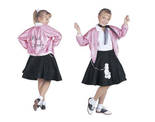 Amazoncom Rg Costumes 50s Pink Lady Jacket Child Largesize 12