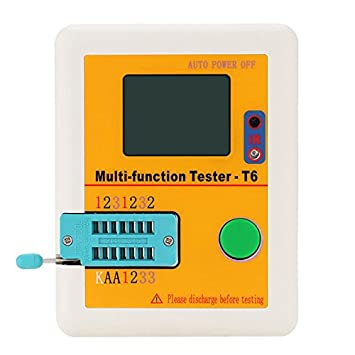 Tutoy Lcr-T6 Probador Multifuncional T6 Transistor Tester Lcd Diodo Triodo Mosfet Npn Pnp Triac Detector Mos: Amazon.es: Hogar