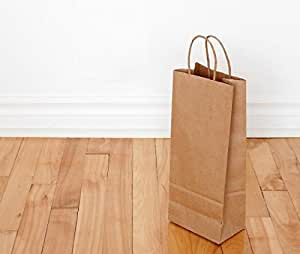 Amazon Com Paper Bags With Rope Handles Plain Brown And