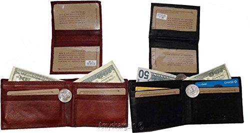 Men's Bifold ID Wallet Card Piece of 2 2 Wallet Detachable Lot Leather 3 BN FwnCEXq