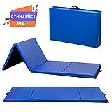 BestMassage Gymnastics Mat Gym Mat Tumbling Mat 4 Pannel Foldding Lightweight Gymnastic Tumbling Mat Thick Yoga Exercise Mat 4'x8'x2 Home Gym Mat
