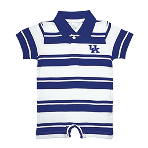 Two Feet Ahead Kentucky Wildcats NCAA College Infant Baby Rugby Striped Romper (12 Months) ()