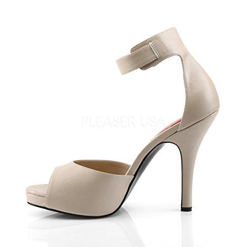 Higher Heels Pleaser Pink Label Womens Big Size Sandals Sandals Eve-02 Cream Matt cream matte eXzlVPiS
