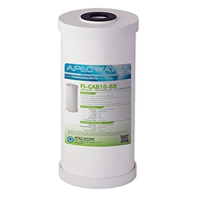 """APEC 10"""" Whole House High Flow GAC Carbon Replacement Water Filter (FI-CAB10-BB)"""