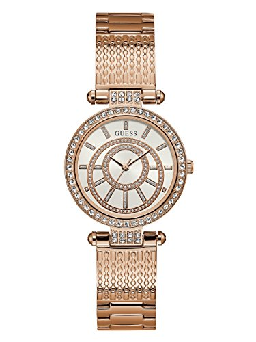 GUESS-Womens-Quartz-Stainless-Steel-Casual-Watch-ColorRose-Gold-Toned-Model-U1008L3
