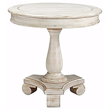 Ashley Furniture Signature Design - Mirimyn End Table - Cottage Style Accent Table - Chipped White
