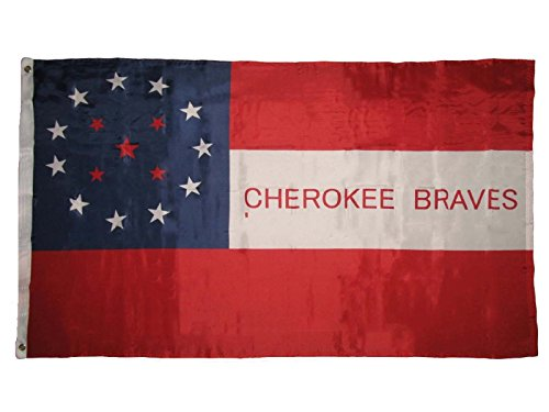 Bravo Rescue Knife (ALBATROS Cherokee Braves Indian Premium Quality Super Poly 3 ft x 5 ft Flag Banner for Home and Parades, Official Party, All Weather Indoors Outdoors)