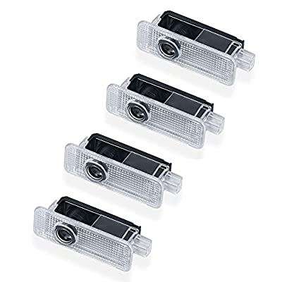 4pcs Fit for Land Rover Freelander discovery4 Evoque Car Door Projector Welcome Courtesy Shadow Logo Light: Automotive