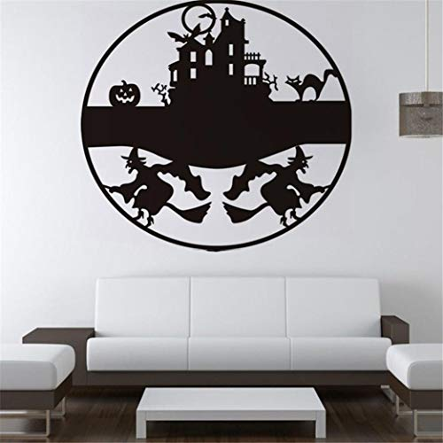 Halloween Fantasy Decor 3D Wall Sticker, Halloween Wall Decal DIY Scary Removable Window Stickers Halloween Party Supply Home Decoration (Black) ()