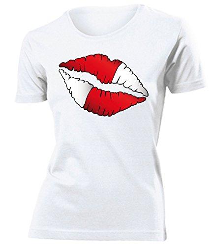 coppa del Mondo - Campionati Europei ÖSTERREICH FAN mujer camiseta Tamaño S to XXL varios colores Blanco