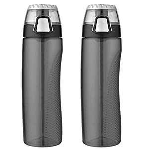 2 X Thermos Tritan Hydration Bottle with Meter, 24-Ounce, Smoke