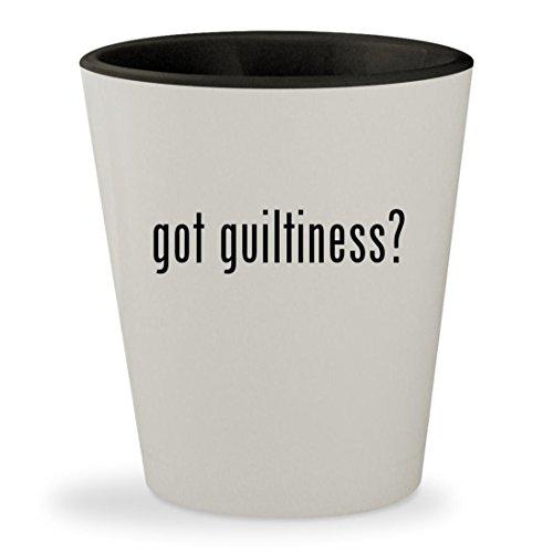 got guiltiness? - White Outer & Black Inner Ceramic 1.5oz Shot Glass
