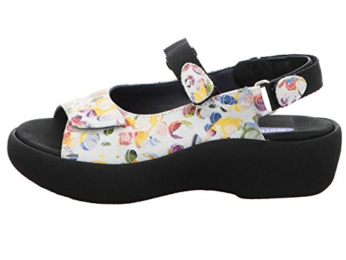 Wolky Womens 3204 Jewel Leather Sandals 12910 White Multi Nubuck
