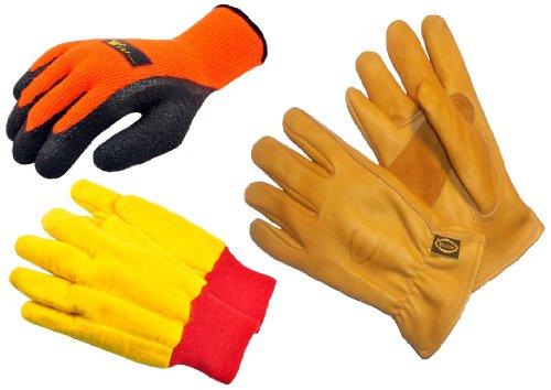 Leather Chore Glove (G & F 1528-5414-6203M Winter Outdoor II winter work gloves assortment, 3 styles, Medium, 3-Pair)
