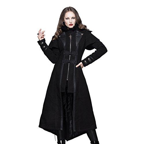 In Devil Gabardina Chaqueta Negro Heroic Fashion Para Mujer C4nqw z5WgPWqv