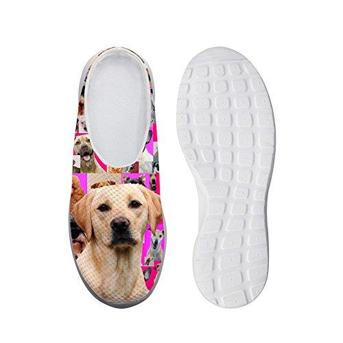 Bigcardesigns Labrador Traspirante Pantofola Signore Casual Mesh Flats Pigro Scarpe 41