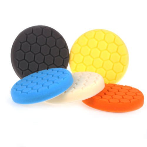 5 pack 6'' Five Color Functions Buffing Pads Sponge Polishing Pad Kit For Car Polisher Finest Foam Durability Suitable for All Models of Vehicles Car by EEEKit (Image #1)