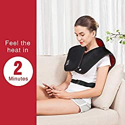 Heating Pad for Neck and Shoulders - Heat Wrap with Adjustable Heated Levels & Vibration Massage for Neck and Shoulder Back Pain Relief, Heating Pad with Auto Shut Off