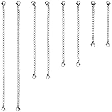 "D-buy 8 Piece Stainless Steel Necklace Bracelet Extender Chain, Set 4 Different Length: 6"" 4"" 3"" 2"""